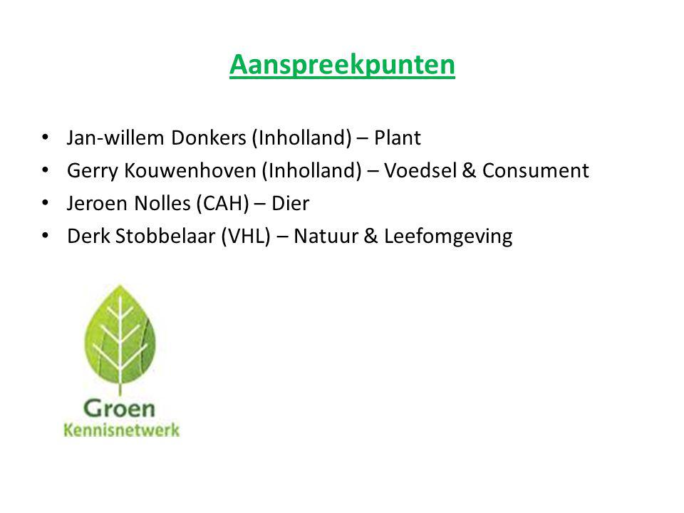 Aanspreekpunten Jan-willem Donkers (Inholland) – Plant