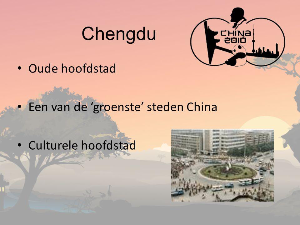 Chengdu Oude hoofdstad Een van de 'groenste' steden China