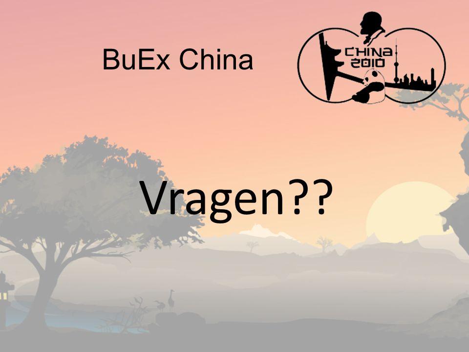BuEx China Vragen