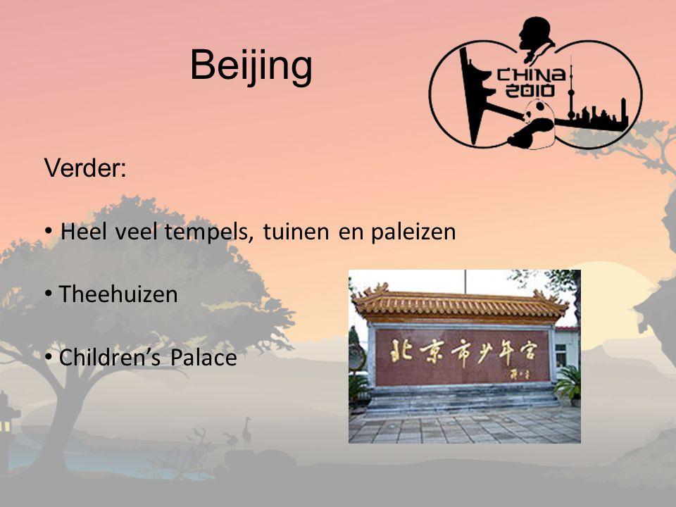 Beijing Verder: Heel veel tempels, tuinen en paleizen Theehuizen