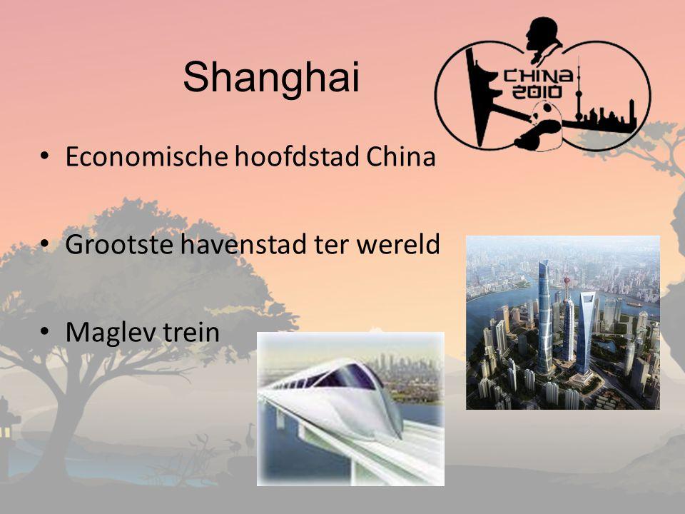 Shanghai Economische hoofdstad China Grootste havenstad ter wereld