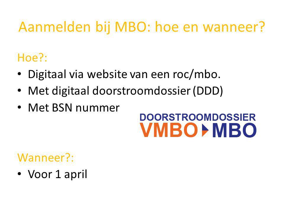 Aanmelden bij MBO: hoe en wanneer