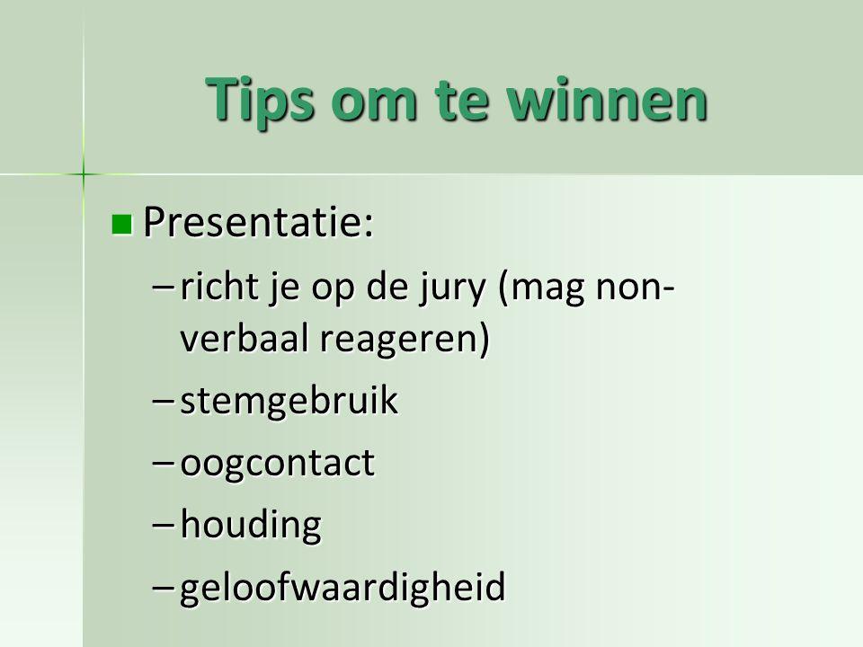 Tips om te winnen Presentatie: