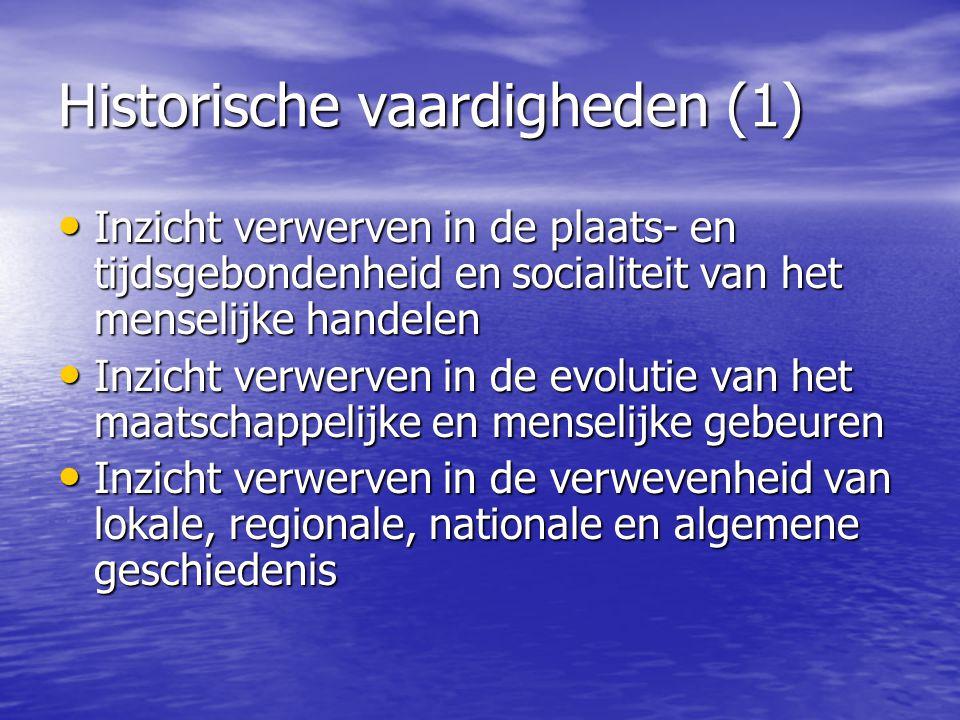 Historische vaardigheden (1)