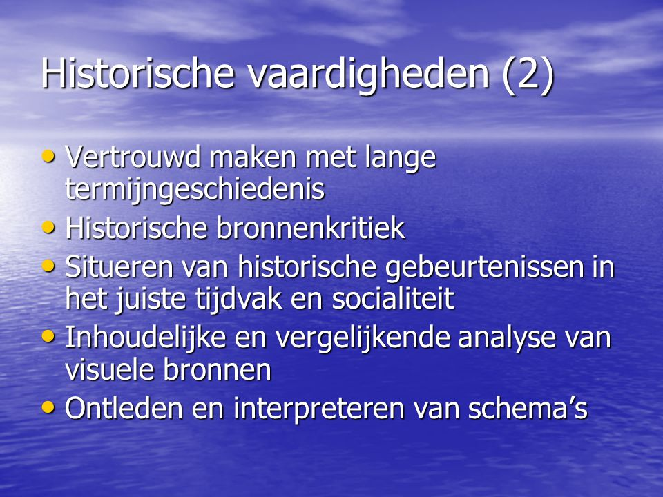 Historische vaardigheden (2)