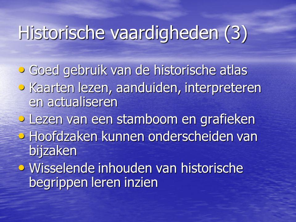 Historische vaardigheden (3)
