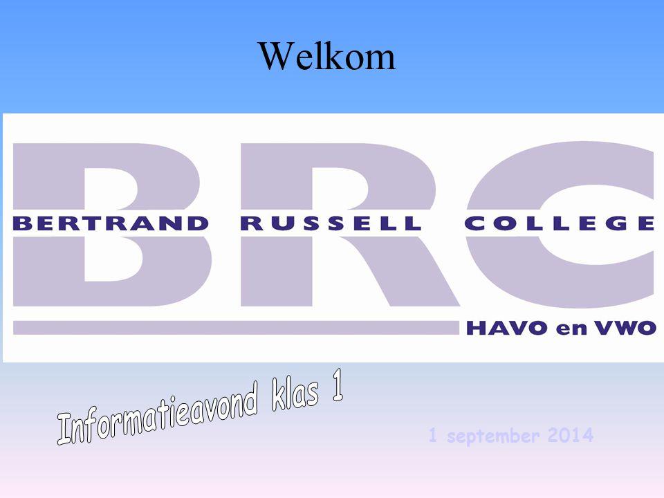 Welkom - Informatieavond klas 1 1 september 2014