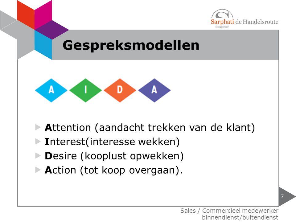 Gespreksmodellen Attention (aandacht trekken van de klant)