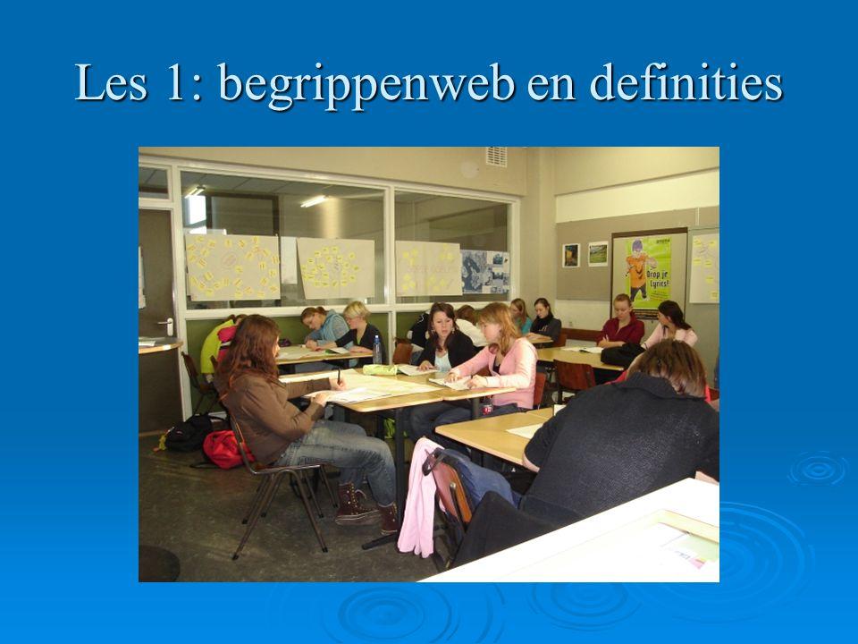 Les 1: begrippenweb en definities