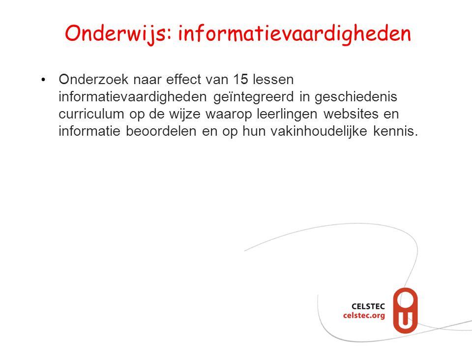 Onderwijs: informatievaardigheden