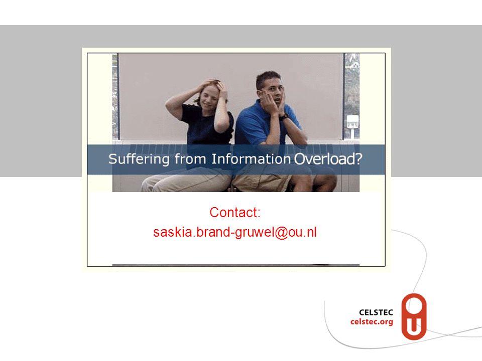 Contact: saskia.brand-gruwel@ou.nl