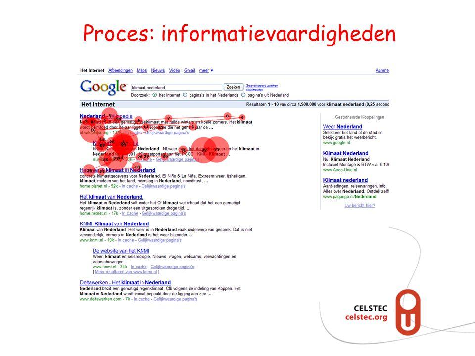 Proces: informatievaardigheden