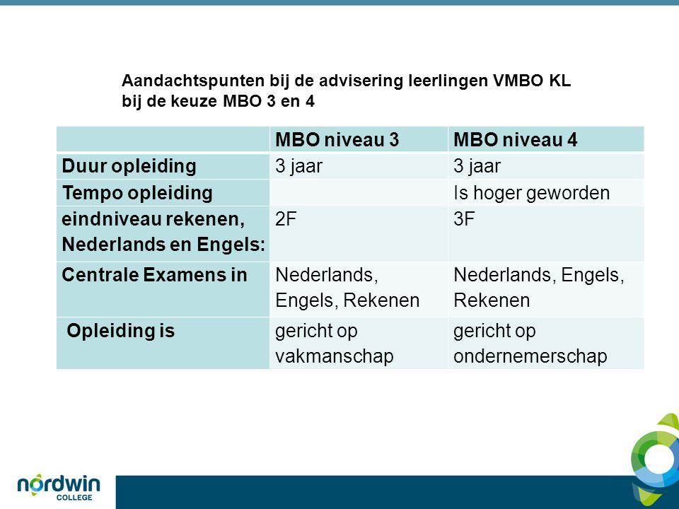 eindniveau rekenen, Nederlands en Engels: 2F 3F