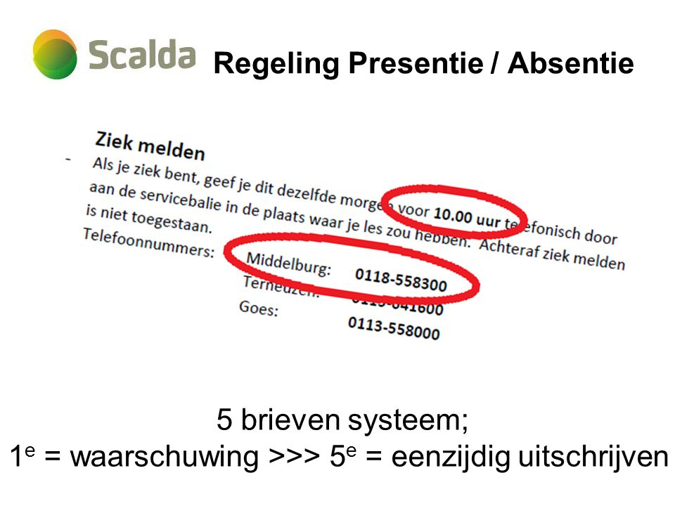 Regeling Presentie / Absentie