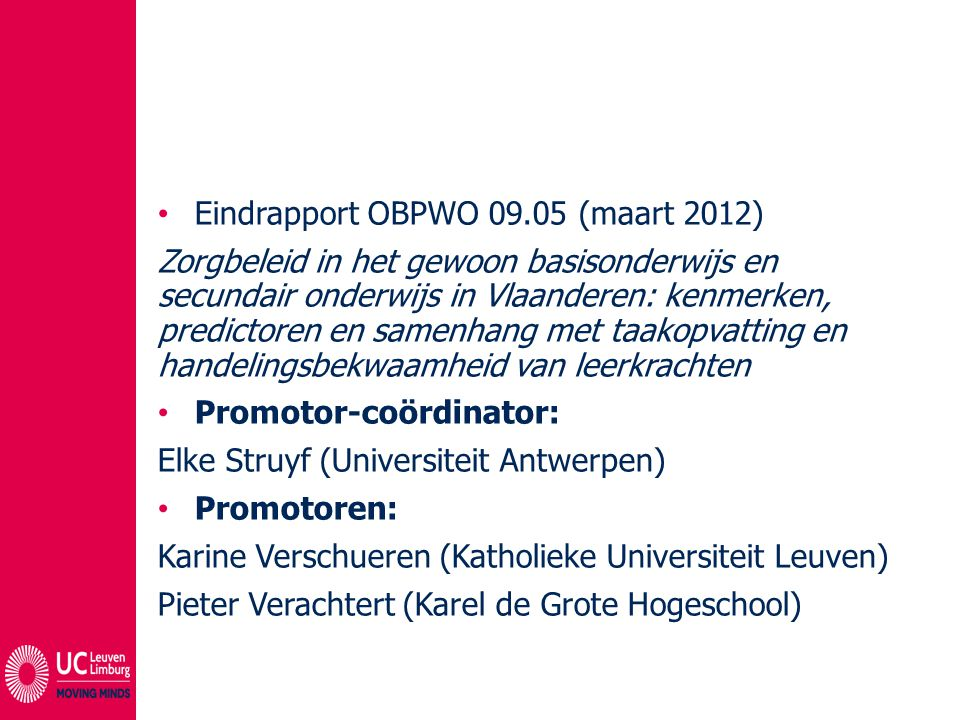 Eindrapport OBPWO 09.05 (maart 2012)