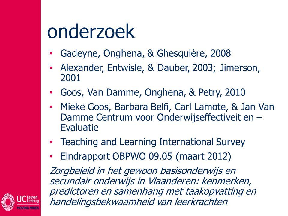 onderzoek Gadeyne, Onghena, & Ghesquière, 2008