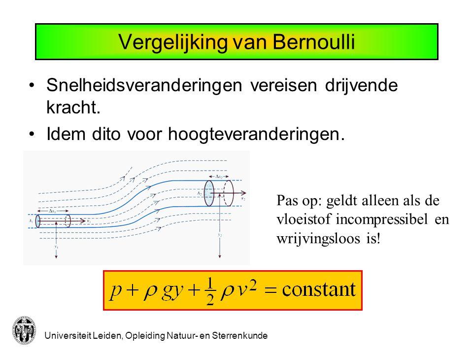 Vergelijking van Bernoulli