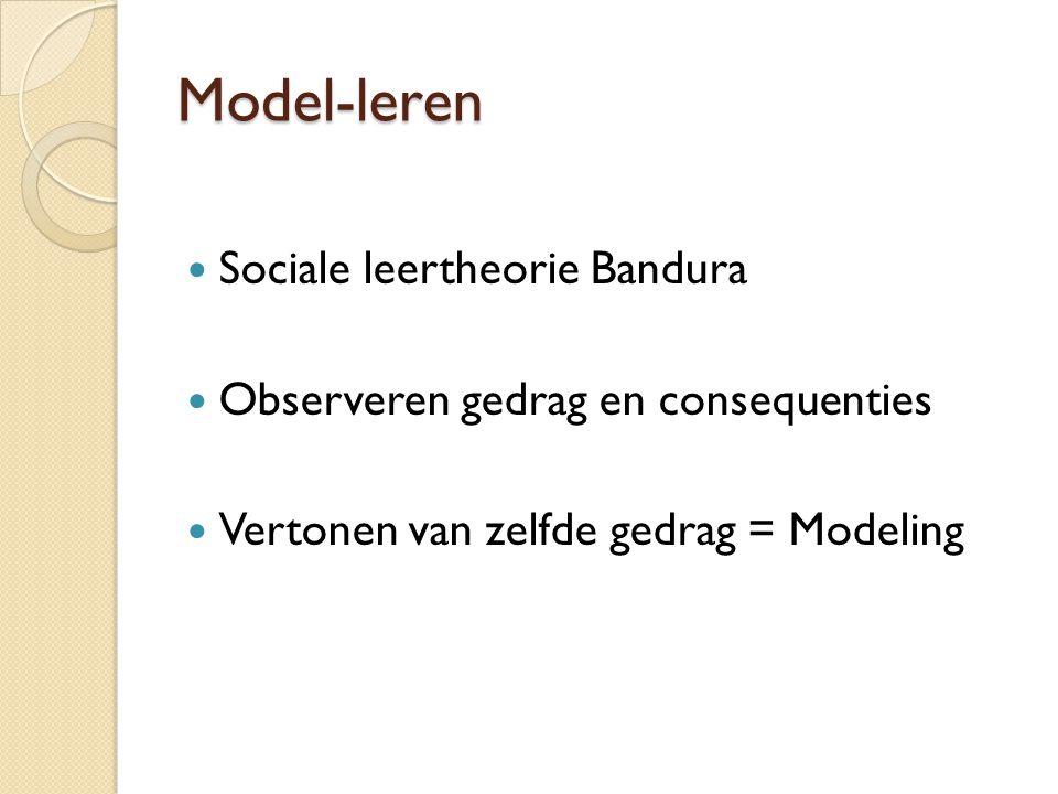 Model-leren Sociale leertheorie Bandura