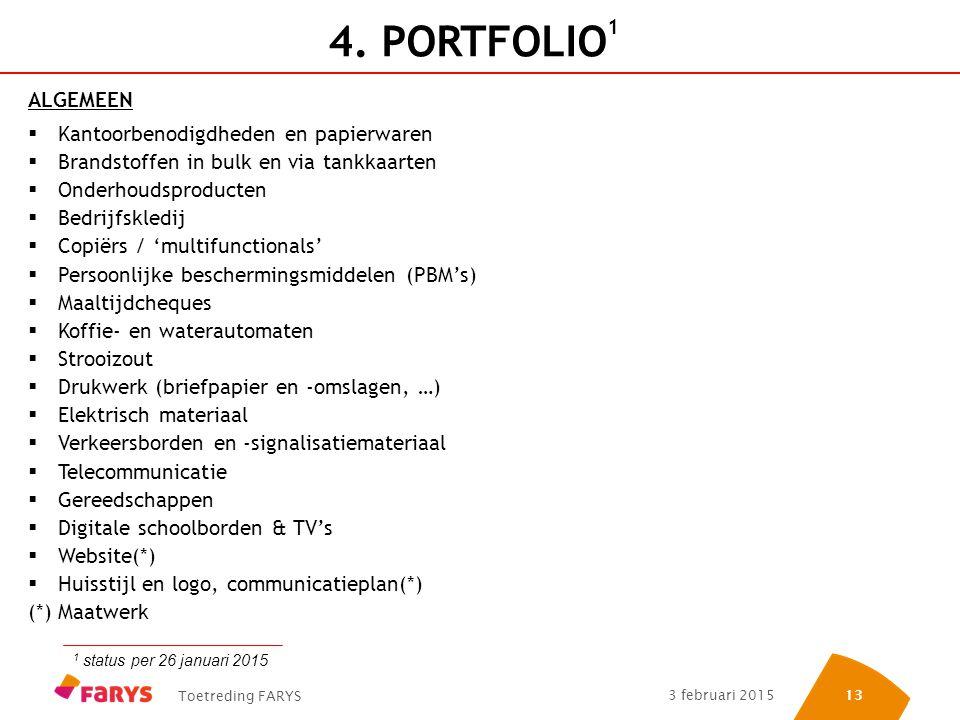 4. PORTFOLIO1 ALGEMEEN Kantoorbenodigdheden en papierwaren