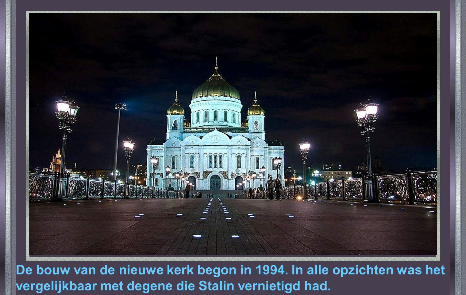 De bouw van de nieuwe kerk begon in 1994
