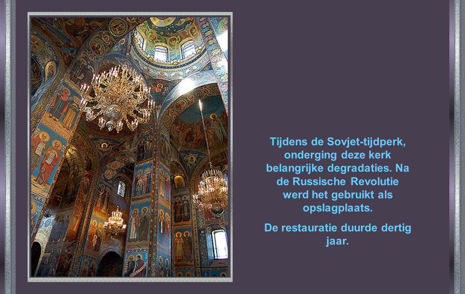 De restauratie duurde dertig jaar.
