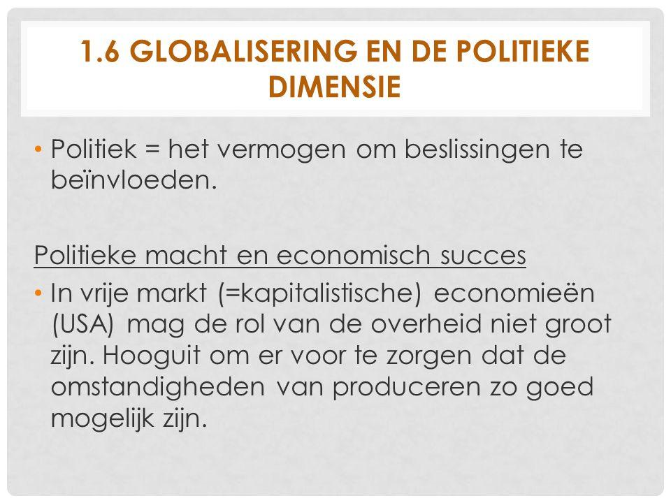 1.6 Globalisering en de politieke dimensie