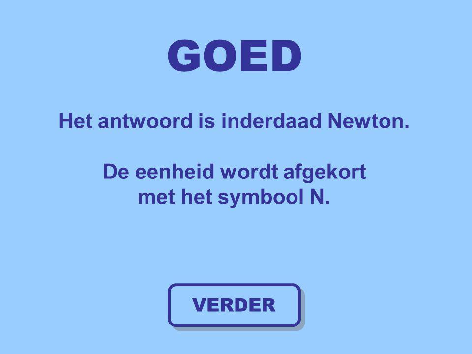 GOED Het antwoord is inderdaad Newton