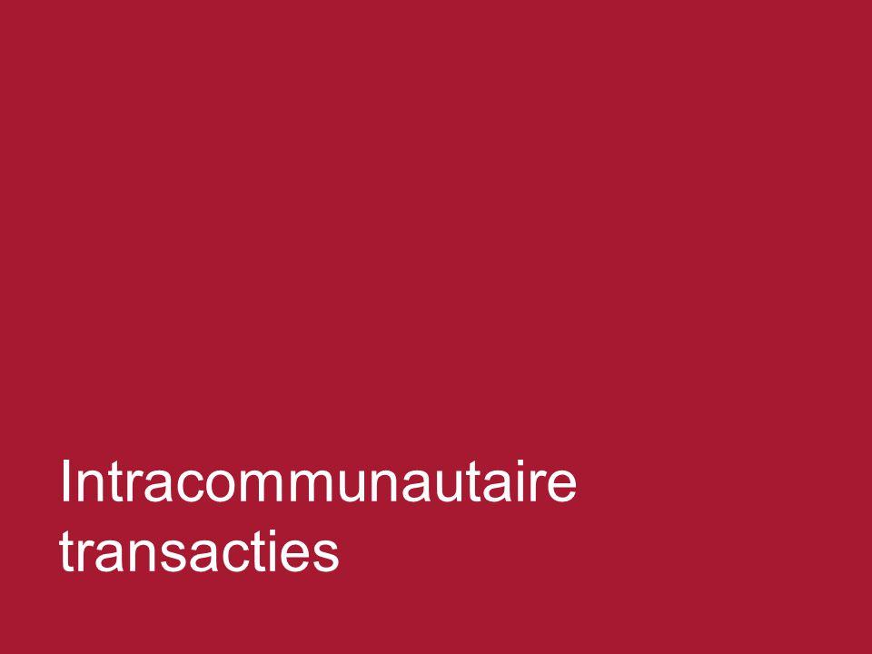 Intracommunautaire transacties