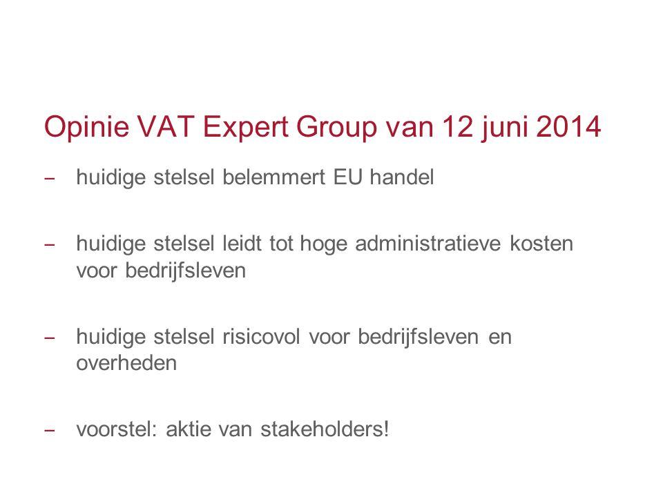 Opinie VAT Expert Group van 12 juni 2014