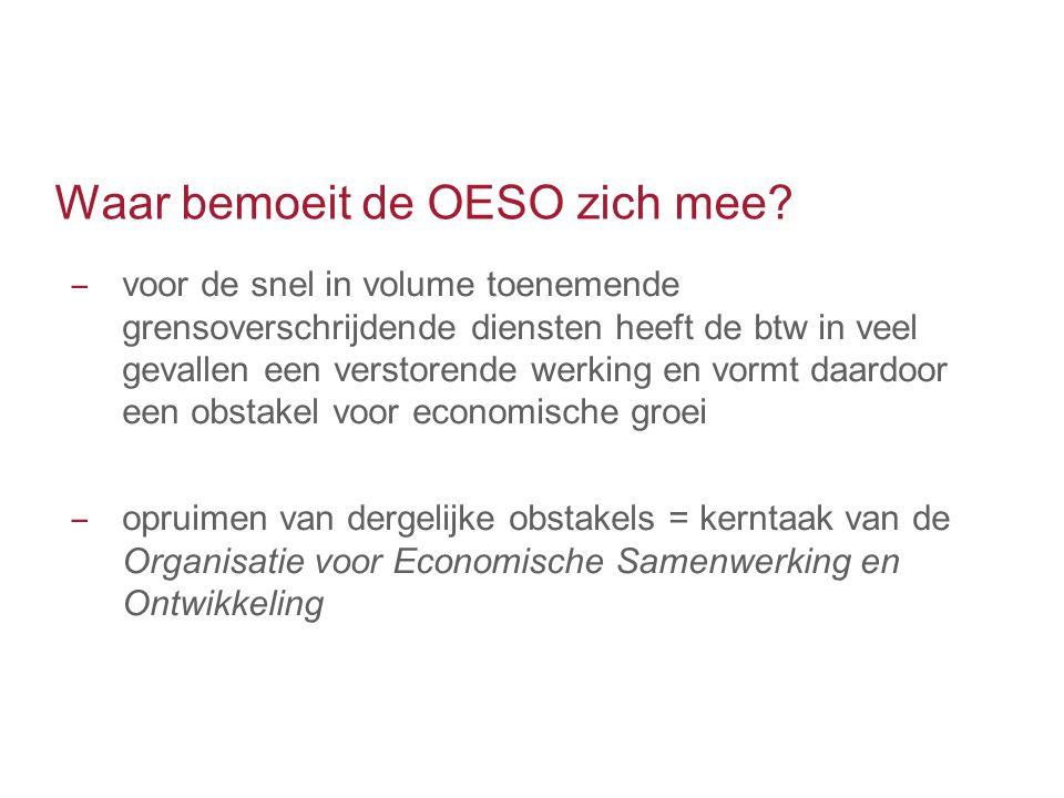 Waar bemoeit de OESO zich mee
