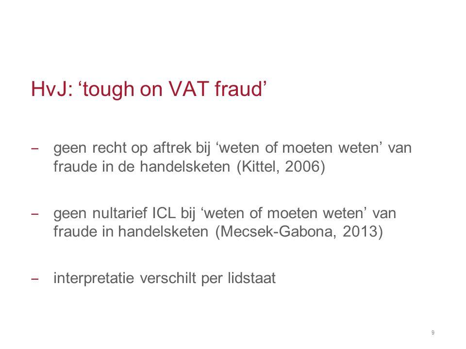 HvJ: 'tough on VAT fraud'