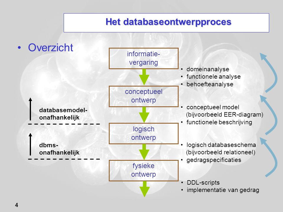 Het databaseontwerpproces