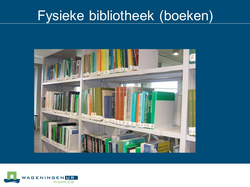 Fysieke bibliotheek (boeken)