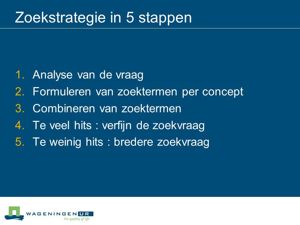 Zoekstrategie in 5 stappen