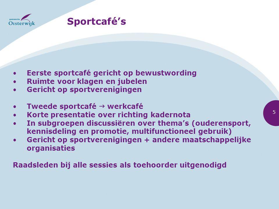 Sportcafé's Eerste sportcafé gericht op bewustwording
