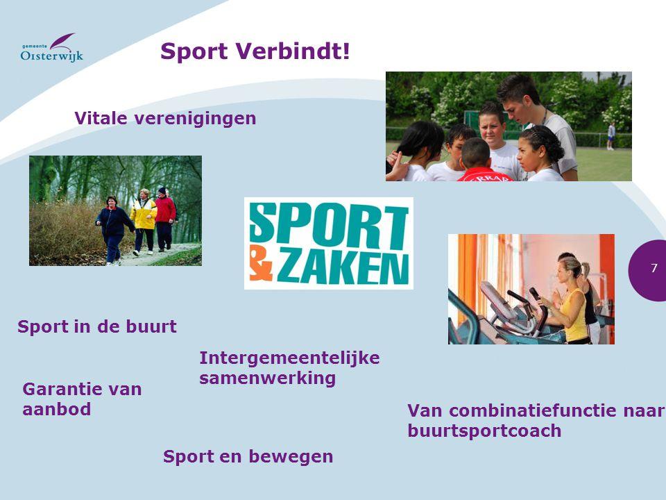 Sport Verbindt! Vitale verenigingen Sport in de buurt