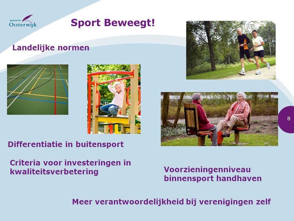 Sport Beweegt! Landelijke normen Differentiatie in buitensport