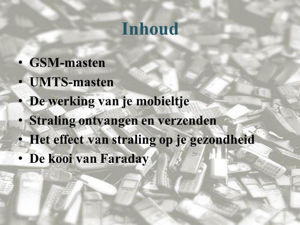 Inhoud GSM-masten UMTS-masten De werking van je mobieltje