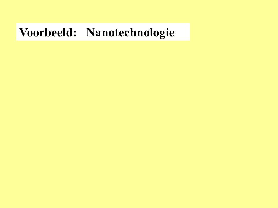Voorbeeld: Nanotechnologie