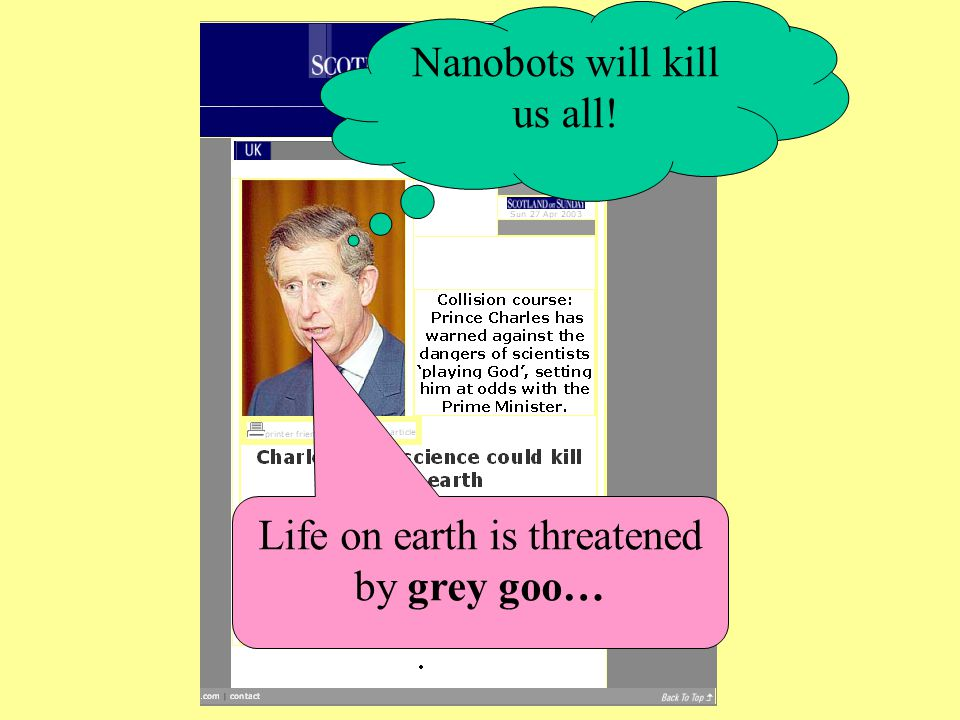 Nanobots will kill us all!