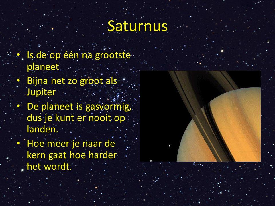 Saturnus Is de op één na grootste planeet