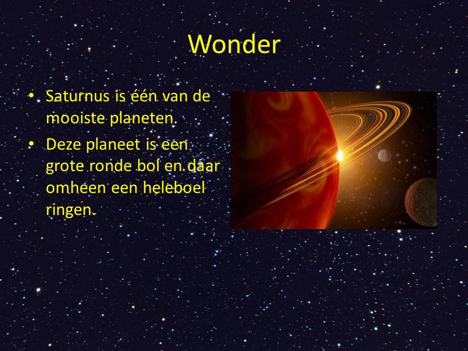Wonder Saturnus is één van de mooiste planeten.