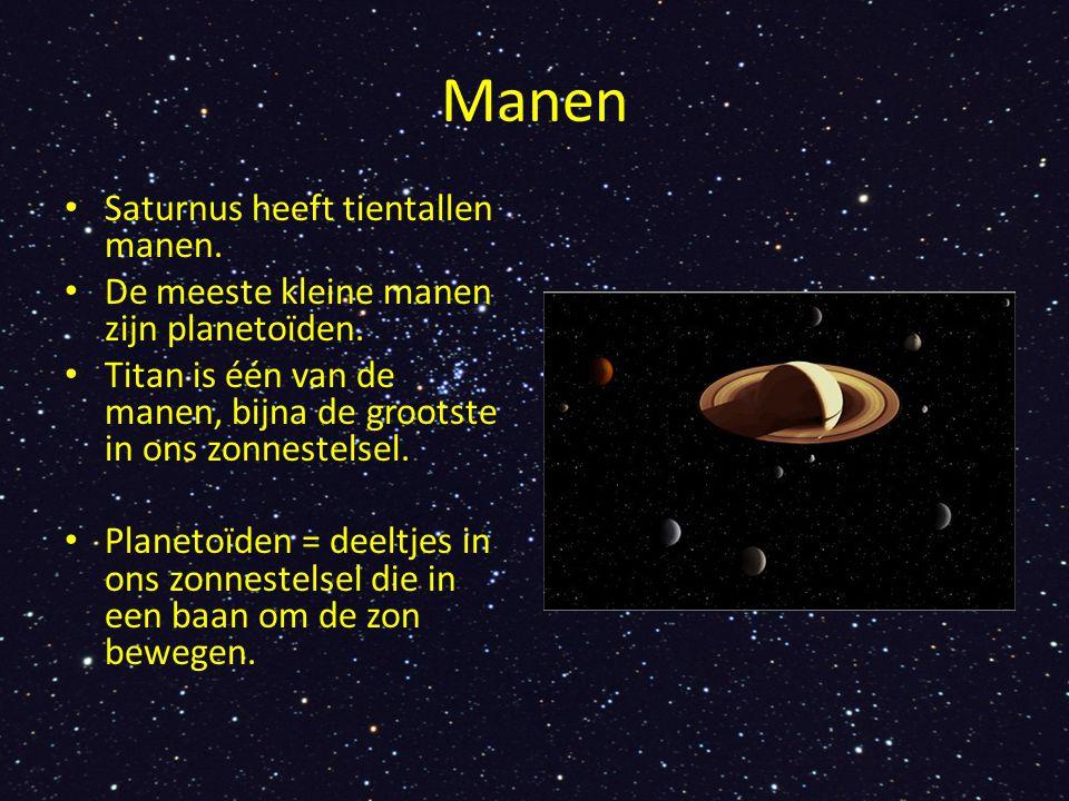 Manen Saturnus heeft tientallen manen.