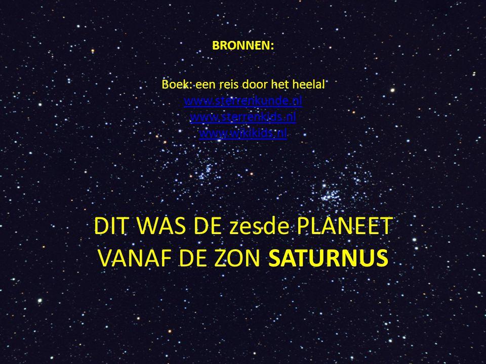 DIT WAS DE zesde PLANEET VANAF DE ZON SATURNUS