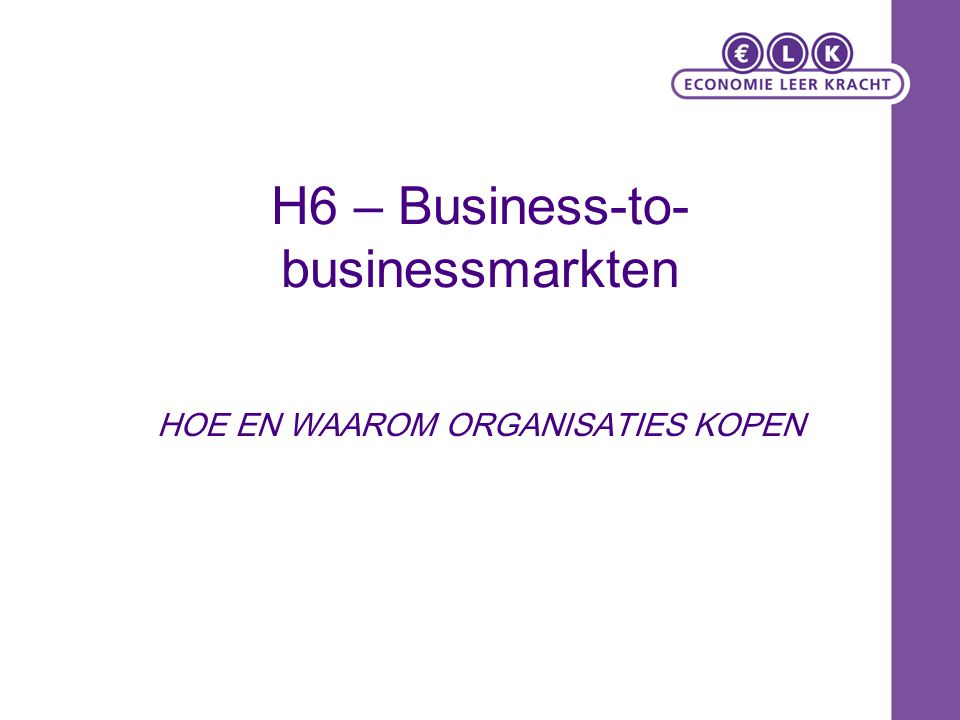 H6 – Business-to-businessmarkten