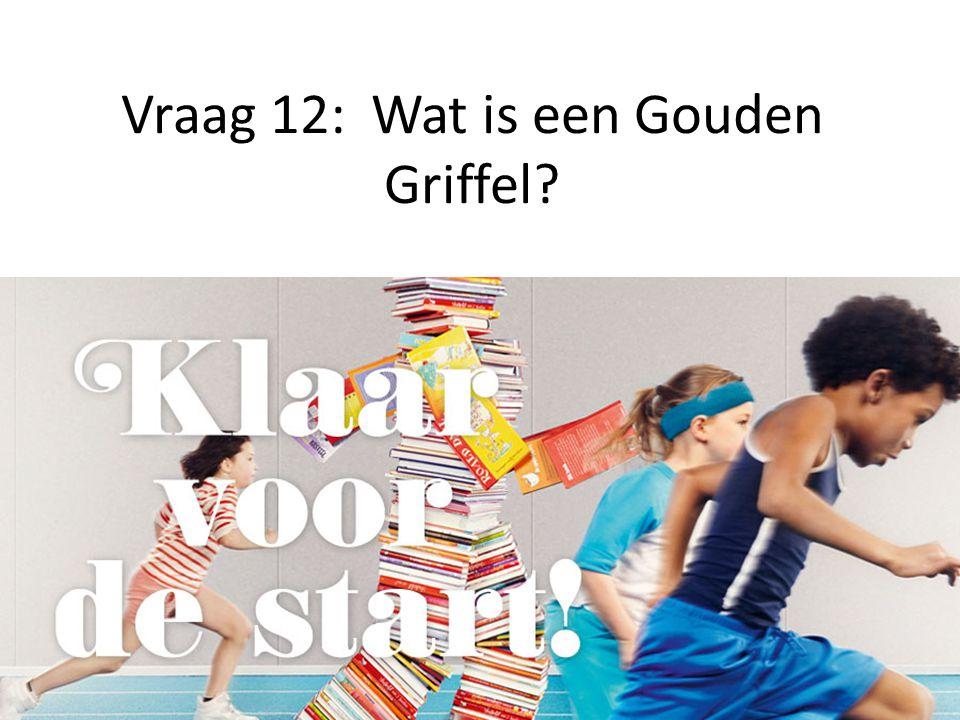 Vraag 12: Wat is een Gouden Griffel