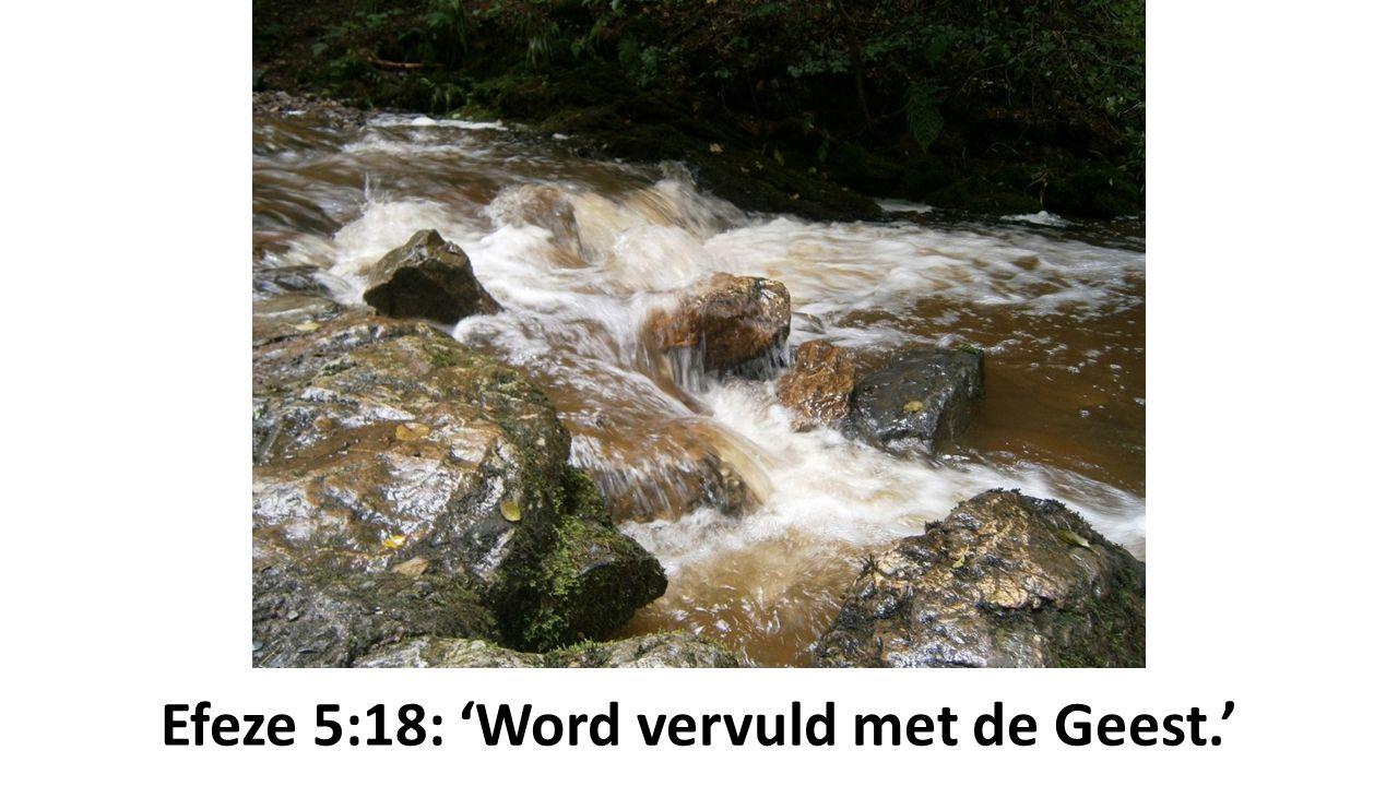 Efeze 5:18: 'Word vervuld met de Geest.'