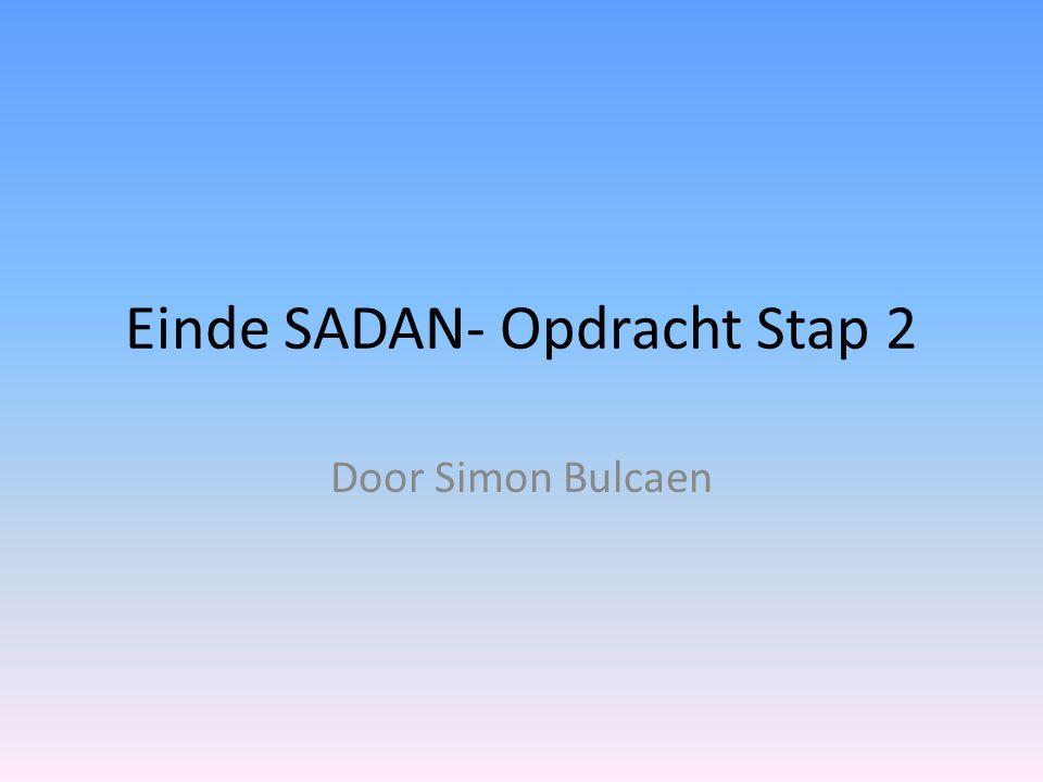 Einde SADAN- Opdracht Stap 2