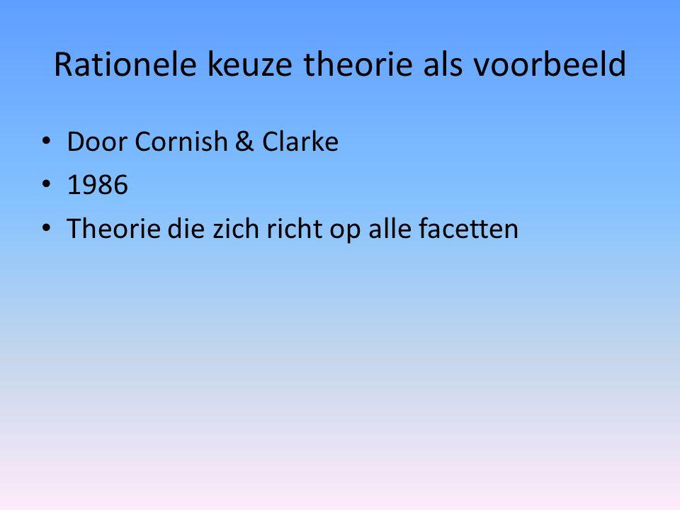 Rationele keuze theorie als voorbeeld