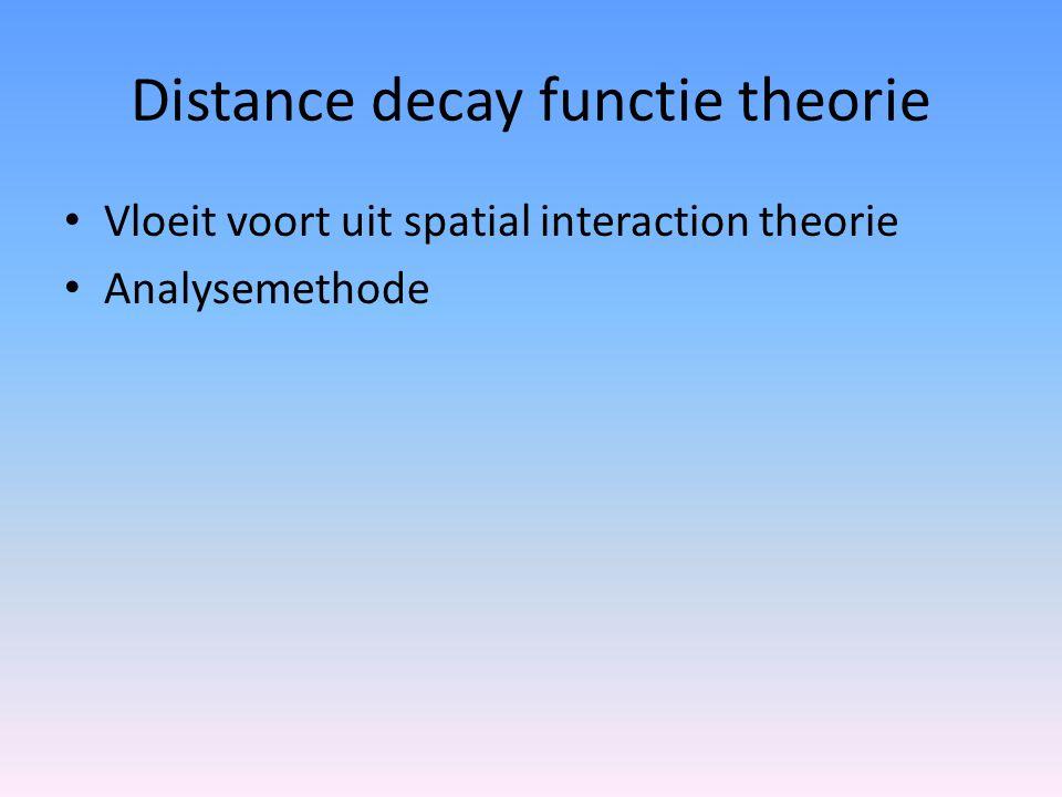 Distance decay functie theorie